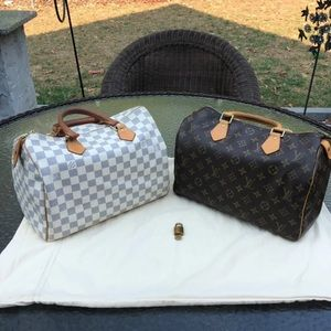Authentic Louis Vuitton Speedy 30 Bundle